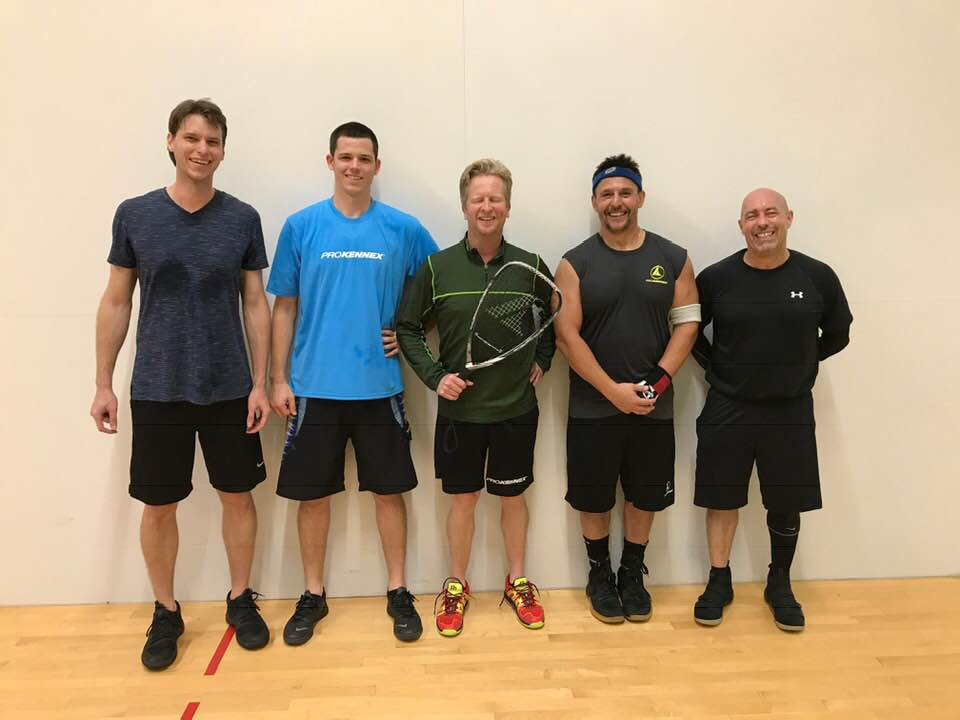 A Doubles Finalists Mike Bradford Jeff Hald Scott Parchem Phil Oliver