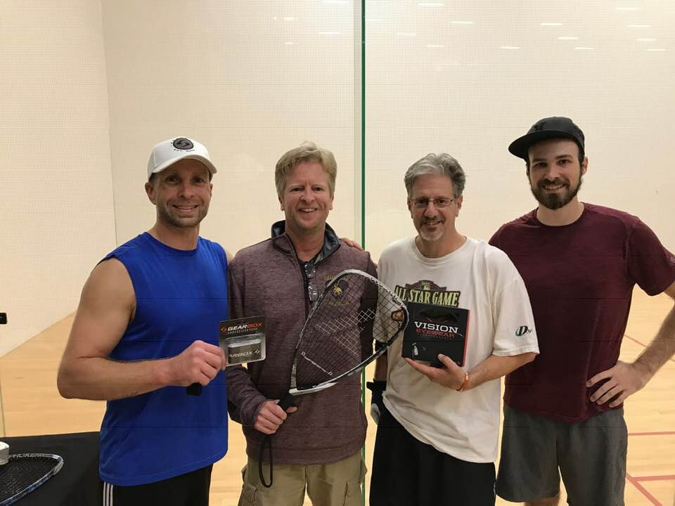 B Mike McKnight Brian Murphy Matthew Antley Racquetball