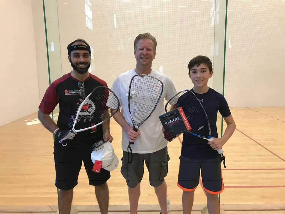 C Finalists Miller Roberts Zubair Akhtar Racquetball