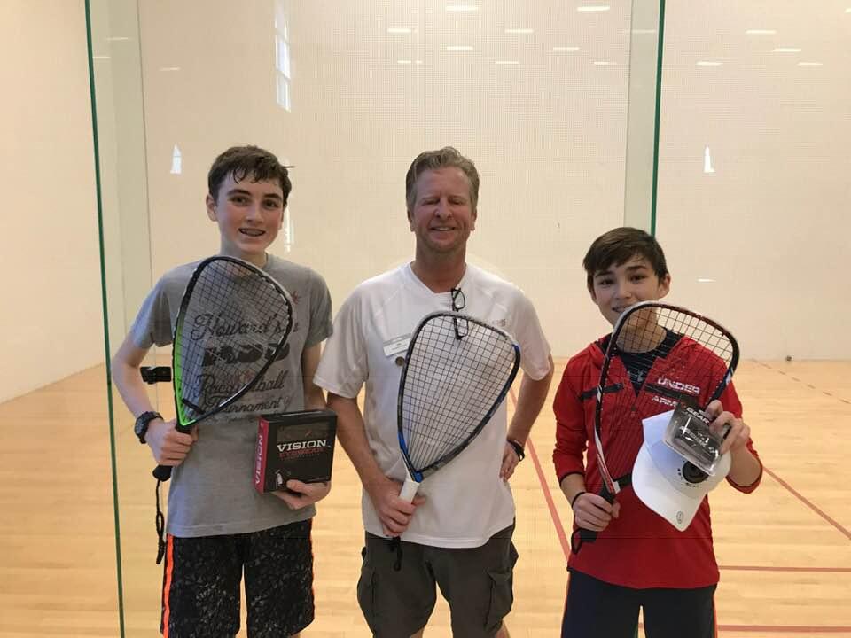 Junior Finalists Miller Roberts Jasper Munden Racquetball