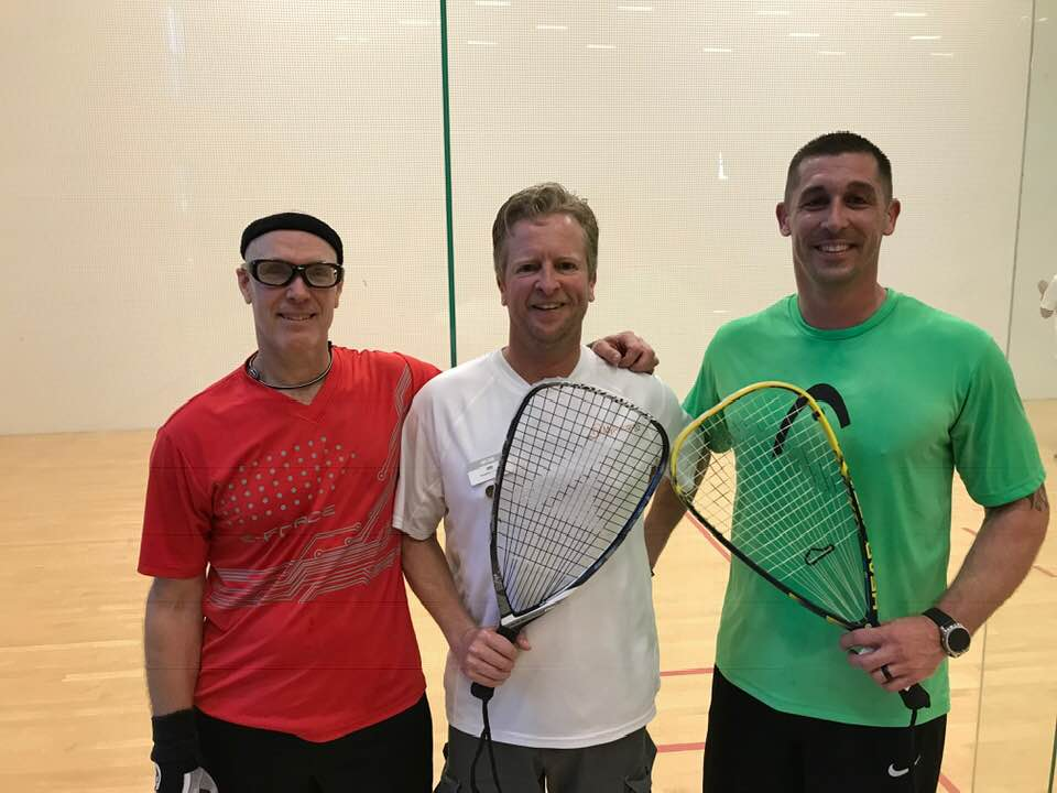 Open Finalists Paul Kiil Glenn Martineau Racquetball