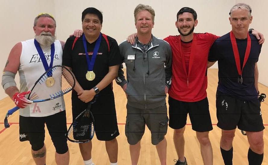 A Doubles Gary Durbin Luis Corona David Gross Joel Gross Racquetball